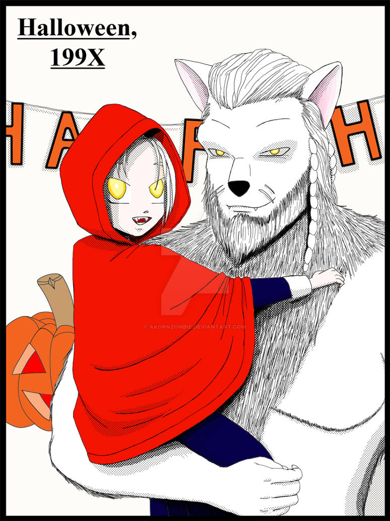 Little Red Riding Hood and the Big Bad Wolf by akornzombie