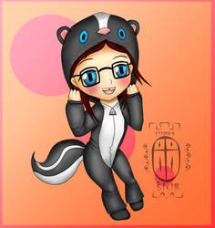 me in a skunk onesie X3 by Mephitus