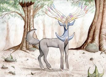 Xerneas Watercolor by XMegantronX