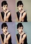 Audrey Hepburn Vaping Pop Art