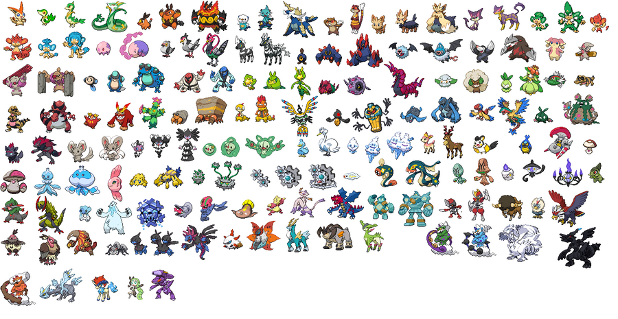 Pokemon Black And White. (Pokemon Black White Sprites