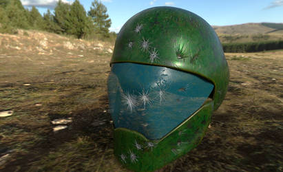 Battered Sci-Fi Helmet by Warmaster-Shephard