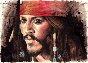 Johnny Depp as Captain Jack Sparrow by Drimr