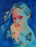 Acrylic portrait - Butterfly