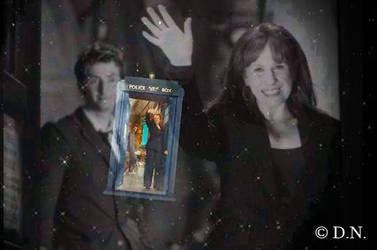 Doctor and Donna in the Tardis by Francy3192