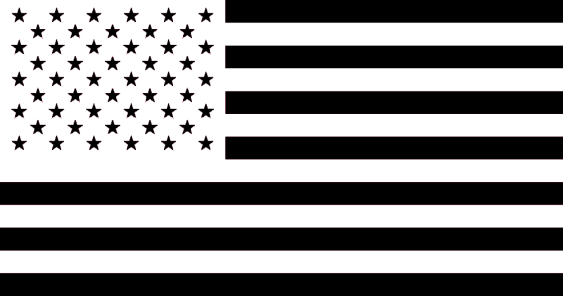Black American Flag By Person25