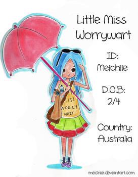 Little Miss WorryWart - ID