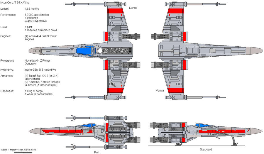 T-65C X-Wing by Soter-1 on DeviantArt on a wing fighter schematics, slave 1 schematics, b-wing schematics, at-at schematics, y-wing schematics, tie interceptor schematics, minecraft schematics, halo warthog schematics,
