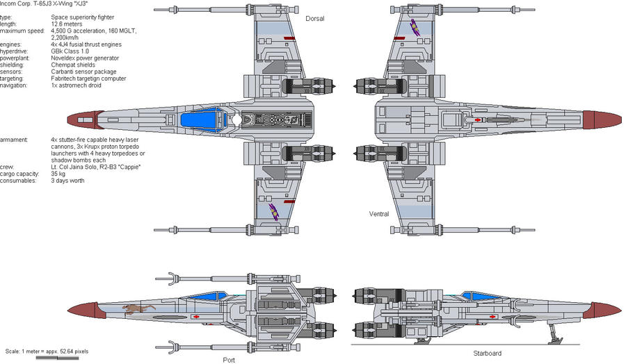 T-65J3 X-Wing by Soter-1 on DeviantArt on a wing fighter schematics, slave 1 schematics, b-wing schematics, at-at schematics, y-wing schematics, tie interceptor schematics, minecraft schematics, halo warthog schematics,