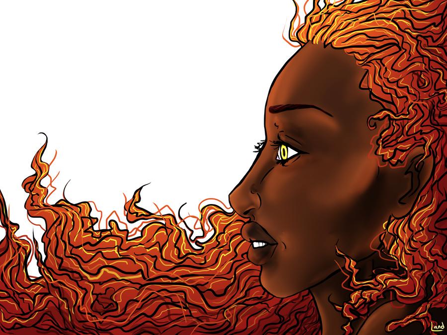 Fire Hair by magicalavatarian
