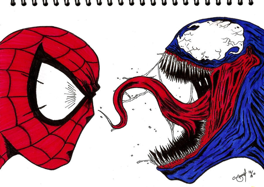 Venom spiderman art - photo#15