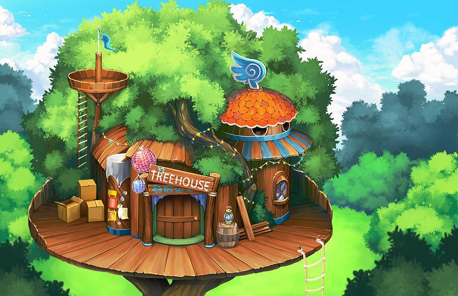 Treehouse BG by kichigai