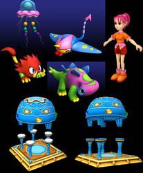 3D Scraps by kichigai