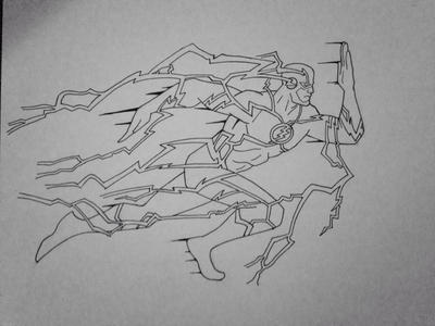 The Flash Line Art : The flash lineart by clone on deviantart