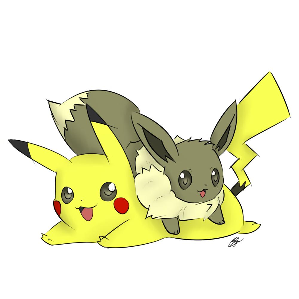 Eevee and Pikachu~ by Goobster180 on DeviantArt  Eevee and Pikac...