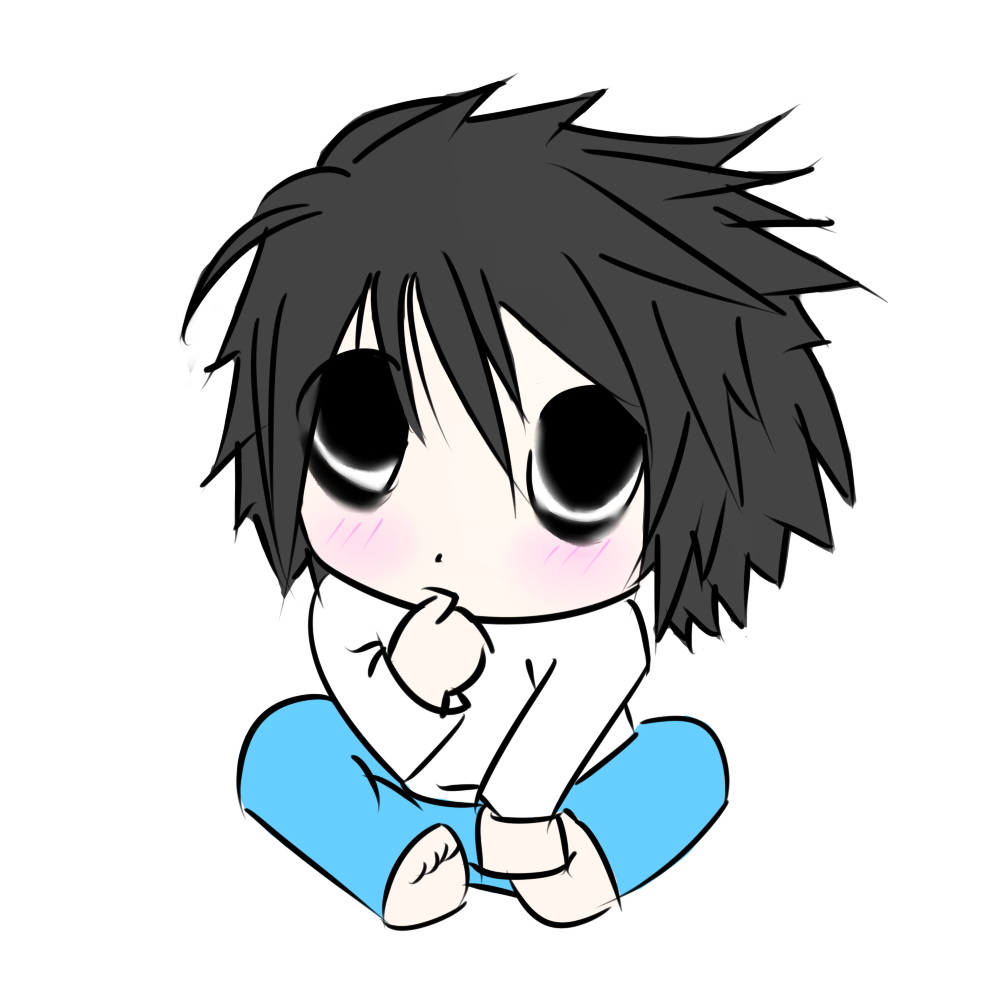L Lawliet Chibi Wallpaper | www.imgkid.com - The Image Kid ...