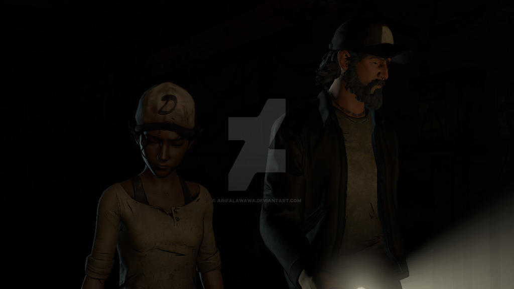 Clementine and Kenny - Walking Dead New Frontier by ArifAlawawa