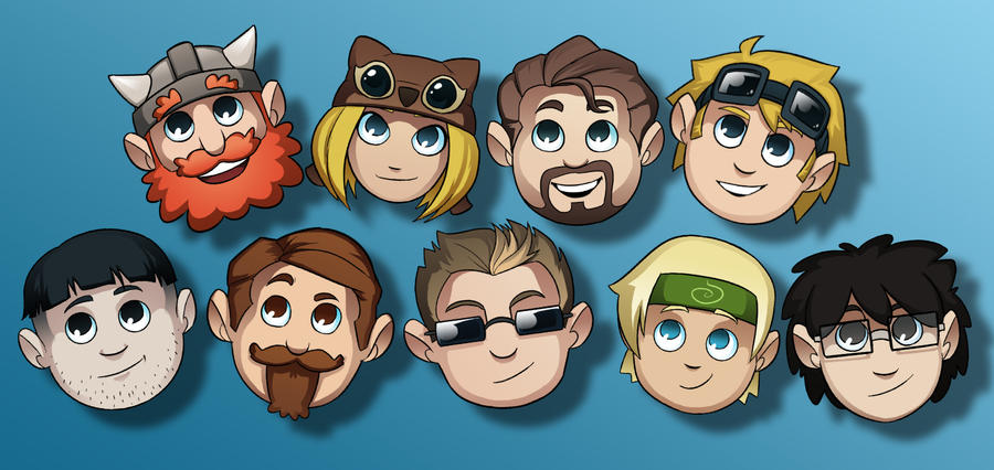 Yogscast Avatars by Teutron