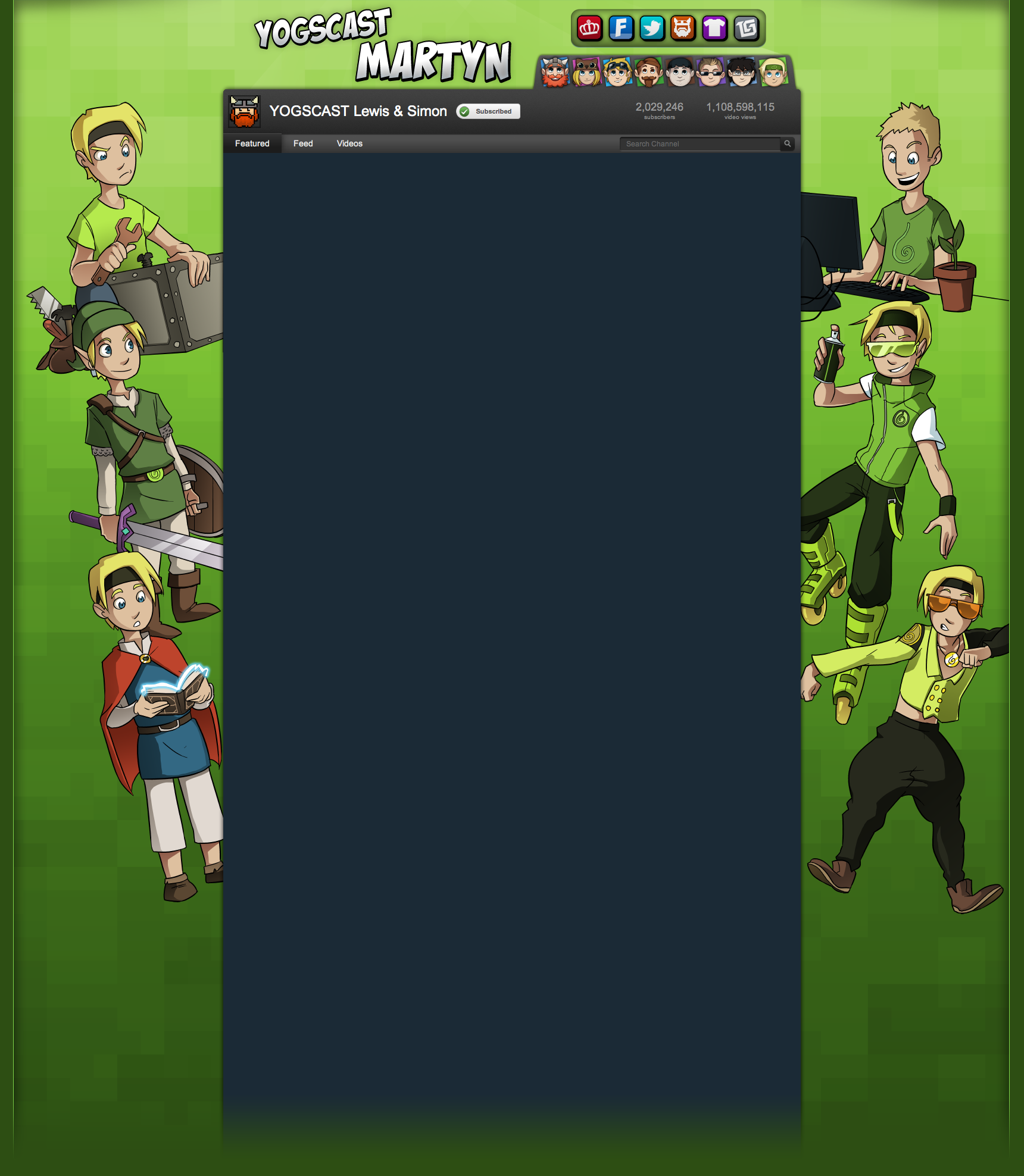 Inthelittlewood Youtube Background (Yogscast) by Teutron ...