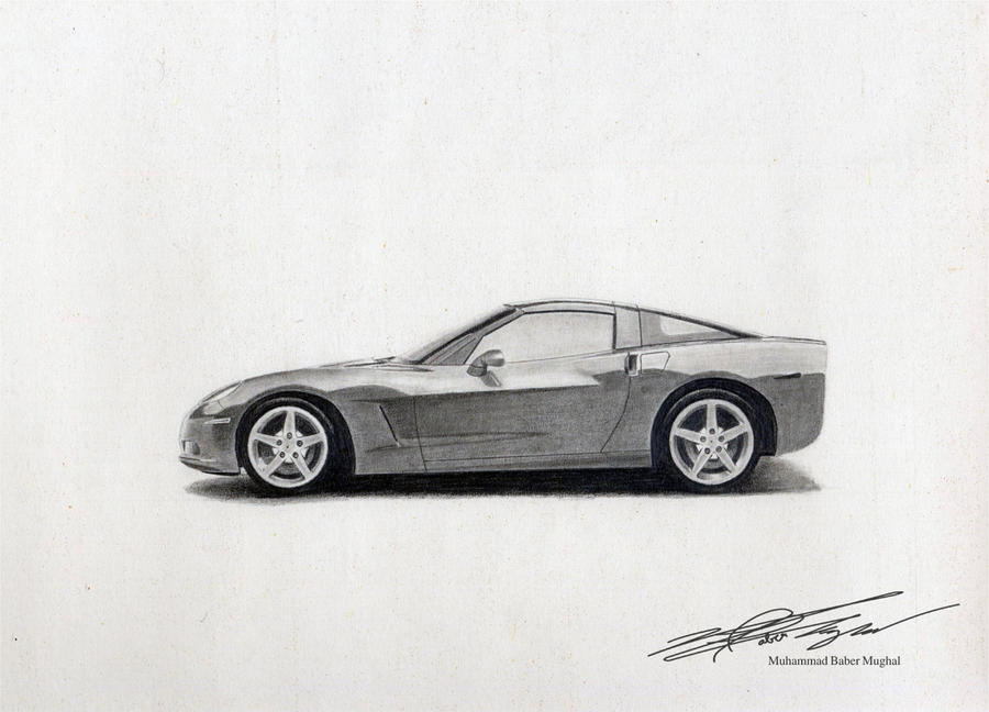 corvette z06 sketch by babermughal on deviantart