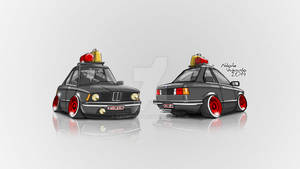 BMW E21 Caricature 2