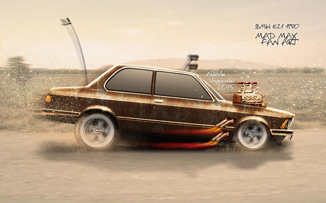 BMW E21 Mad Max Fan Art by extremebt