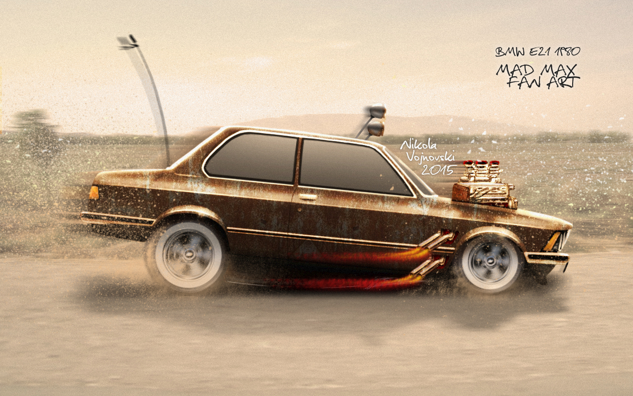 BMW E21 Mad Max Fan Art