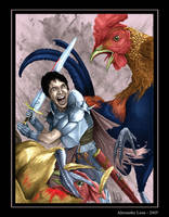 Battle with Giant Chickens by AlexanderLeon