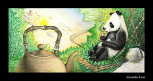 Panda Tea Box Illustration