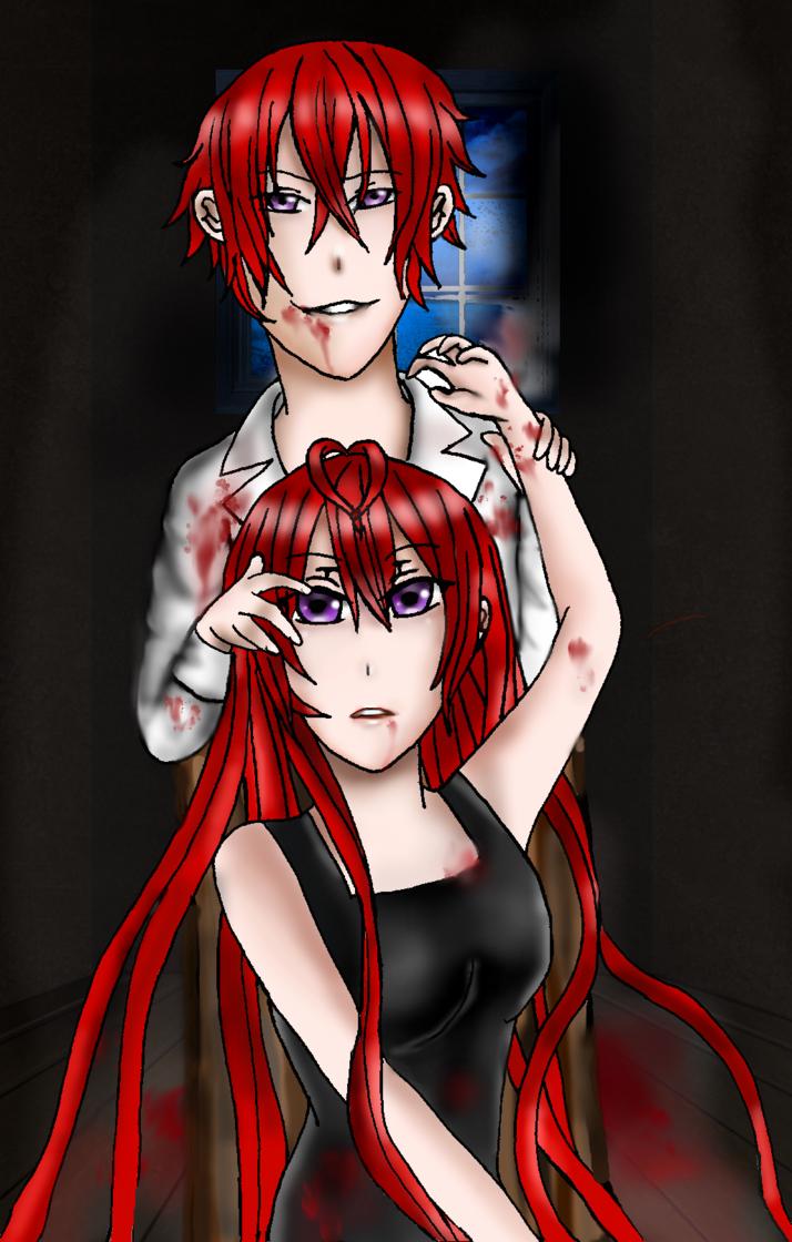 We're all killers, right sis?( Shinji and Shizuki) by ViralTetris