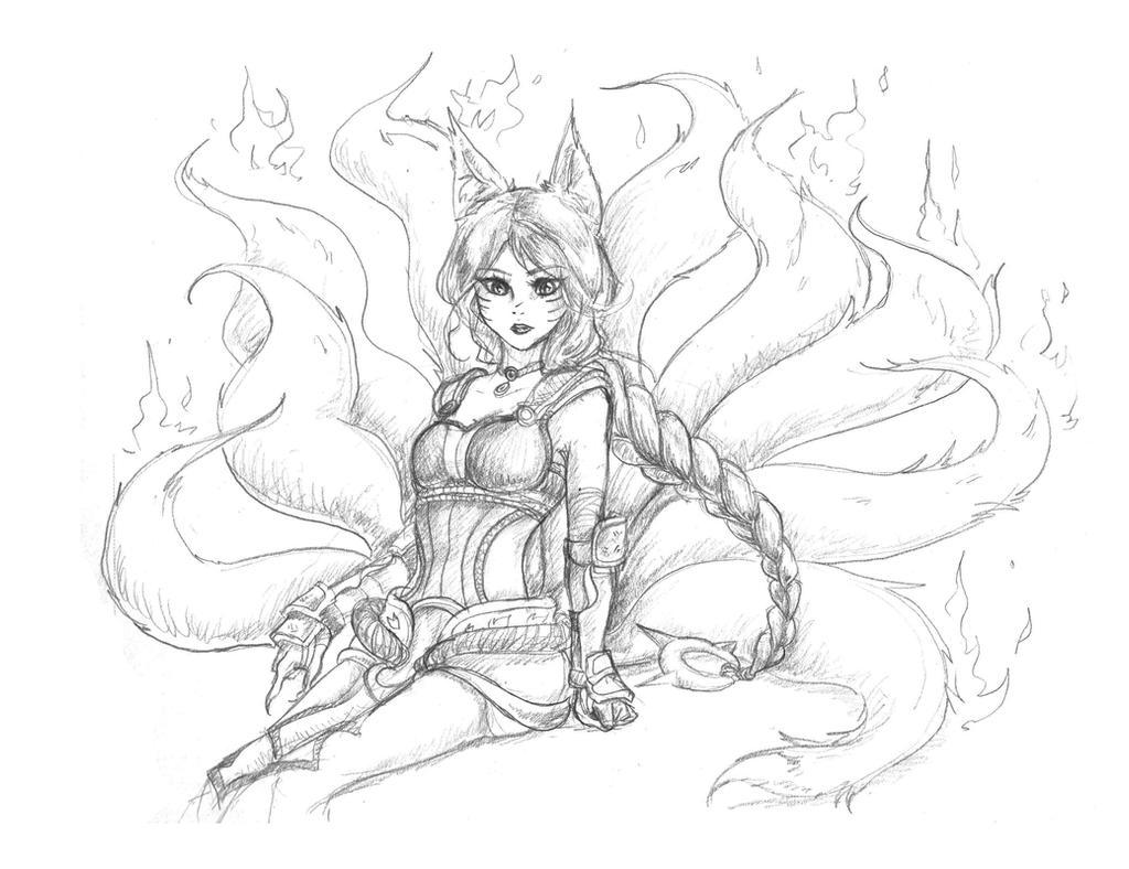 Foxfire Ahri by vikachu23