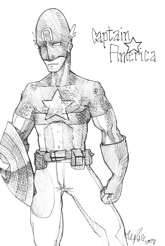 Captain America by kubli