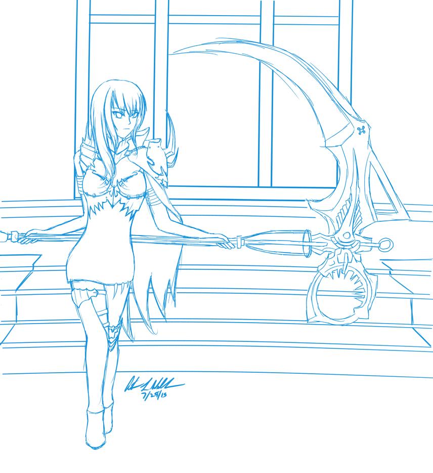 Evie Sketch by SpeedFreakKai
