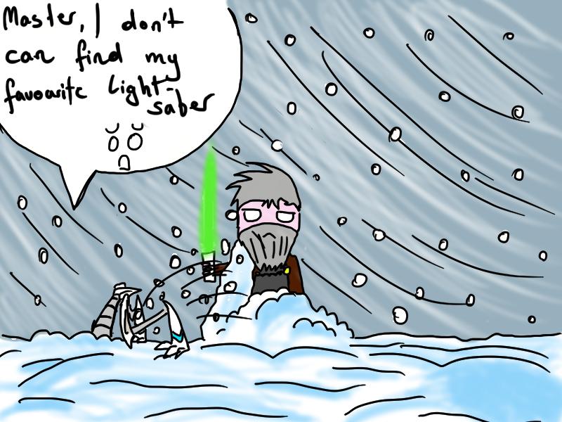 Star Wars Chibi Comic Grievous Lightsaber by 00Schadow00virus00