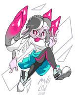 [COMMISSION] Splatoon - Deejay's Squid by Mano-Lon