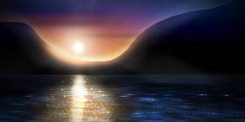 Sunset Drawing