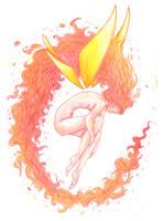 Fire Sprite by SoleiBee