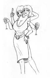 Sahlia sketch by chuckmanx by LoneStranger