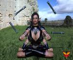 Adaavia meditating by mpcreativearts
