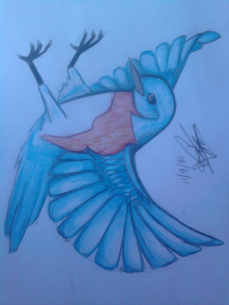 Blue Bird by xXCookiMonstah