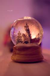 Christmas in a globe by Lain-AwakeAtNight