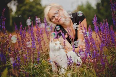 Elli and Kitty by Lain-AwakeAtNight