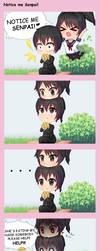 Notice me Senpai! by Yukipengin