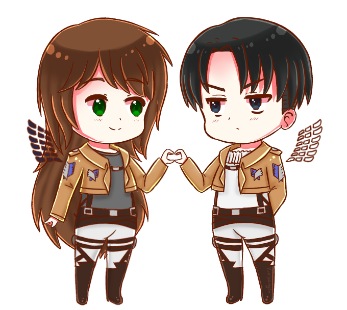At Caitlinackerman Aot Oc Katie And Levi By Yukipengin