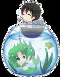 Yandere Simulator-MidoriGurin mermaid x Yanderedev