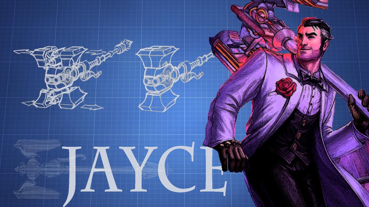 Jayce Blueprint Themed Wallpaper By 5ei3o