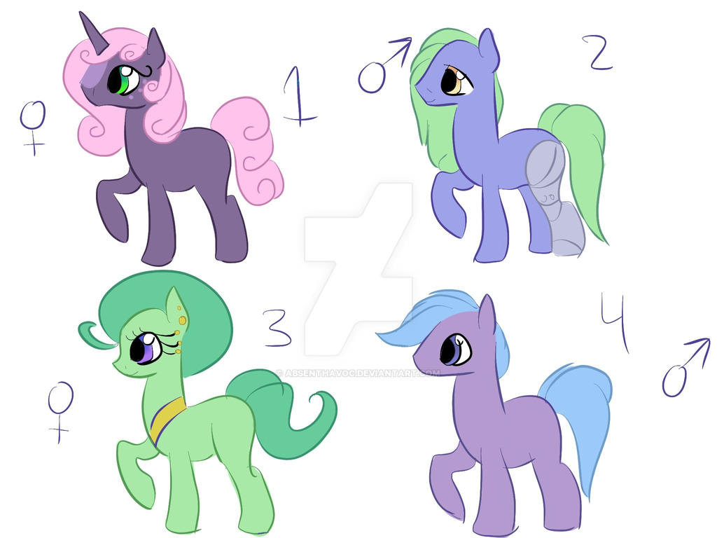 Soft pony adoptables open by UnlawfulOrder
