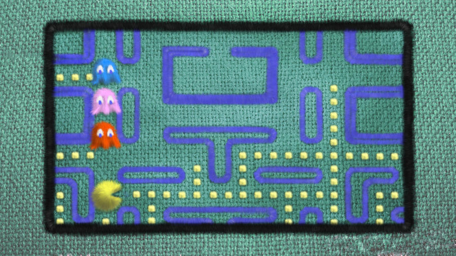 Pacman bedspread by yu-yi