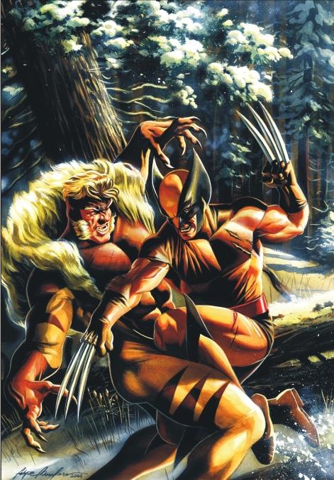 3055e10261f Wolverine vs Sabretooth by felipemassafera on DeviantArt