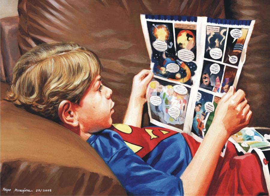 Ian reading... by felipemassafera